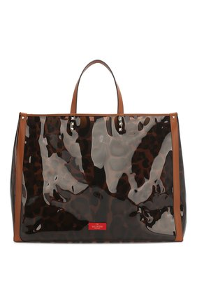 Женская сумка-шопер valentino garavani grande plage VALENTINO леопардового цвета, арт. TW2B0C89/DYU | Фото 1