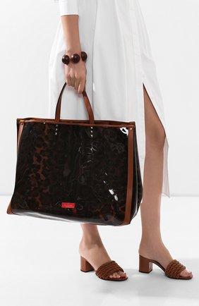 Женская сумка-шопер valentino garavani grande plage VALENTINO леопардового цвета, арт. TW2B0C89/DYU | Фото 2