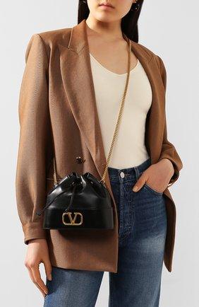 Женская сумка valentino garavani vlogo VALENTINO черного цвета, арт. TW0P0T83/HPF | Фото 2