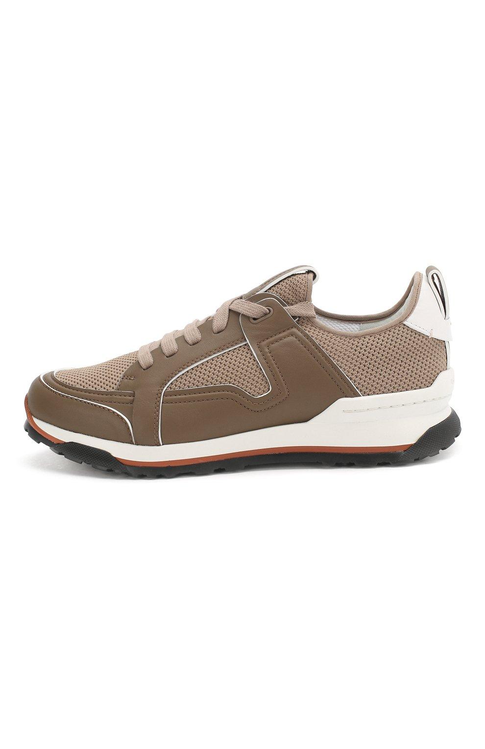 Мужские комбинированные кроссовки ERMENEGILDO ZEGNA бежевого цвета, арт. A4402X-LHNAF | Фото 3