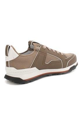 Мужские комбинированные кроссовки ERMENEGILDO ZEGNA бежевого цвета, арт. A4402X-LHNAF | Фото 4