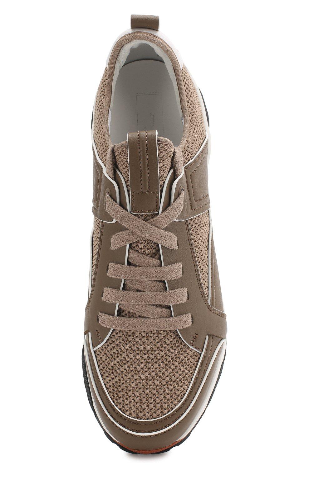 Мужские комбинированные кроссовки ERMENEGILDO ZEGNA бежевого цвета, арт. A4402X-LHNAF | Фото 5
