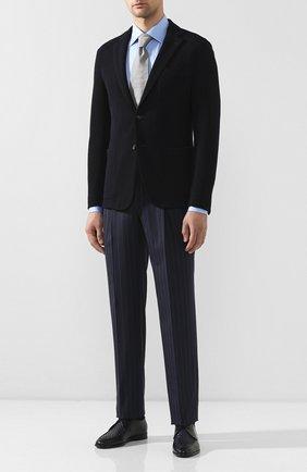 Мужской кожаные дерби ZILLI темно-синего цвета, арт. MDT-B065/001 | Фото 2