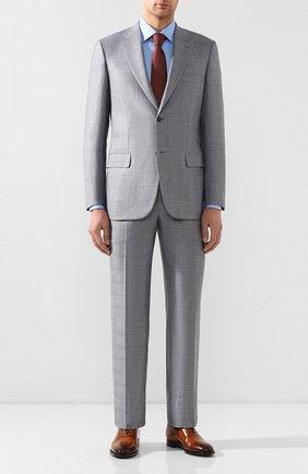 Мужской костюм из смеси шерсти и шелка BRIONI светло-серого цвета, арт. RAH00T/P9A43/PARLAMENT0 | Фото 1