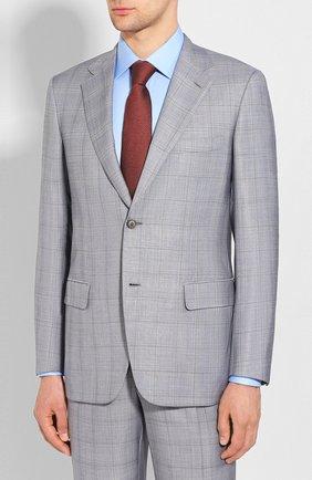 Мужской костюм из смеси шерсти и шелка BRIONI светло-серого цвета, арт. RAH00T/P9A43/PARLAMENT0 | Фото 2