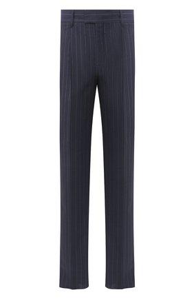 Мужской шерстяные брюки GIORGIO ARMANI темно-синего цвета, арт. 0SGPP0BF/T01JG   Фото 1