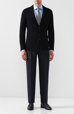 Мужской шерстяные брюки GIORGIO ARMANI темно-синего цвета, арт. 0SGPP0BF/T01JG   Фото 2
