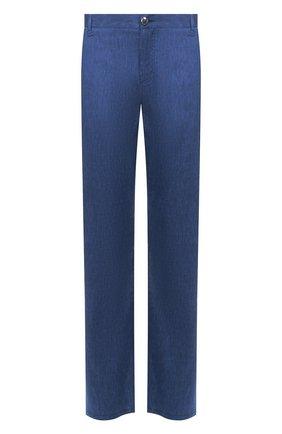 Мужской брюки из смеси льна и шерсти ZILLI синего цвета, арт. M0T-D0150-LALI1/R001 | Фото 1