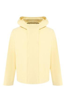 Мужская хлопковая куртка JACQUEMUS желтого цвета, арт. 205BL02/16220   Фото 1 (Материал внешний: Хлопок; Мужское Кросс-КТ: Верхняя одежда, Куртка-верхняя одежда; Длина (верхняя одежда): Короткие; Рукава: Длинные; Кросс-КТ: Ветровка, Куртка)