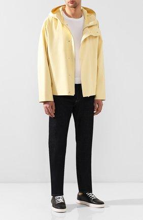 Мужская хлопковая куртка JACQUEMUS желтого цвета, арт. 205BL02/16220   Фото 2 (Материал внешний: Хлопок; Мужское Кросс-КТ: Верхняя одежда, Куртка-верхняя одежда; Длина (верхняя одежда): Короткие; Рукава: Длинные; Кросс-КТ: Ветровка, Куртка)