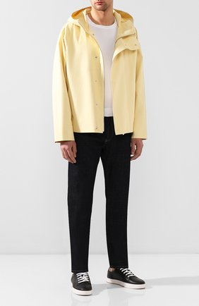Мужская хлопковая куртка JACQUEMUS желтого цвета, арт. 205BL02/16220 | Фото 2