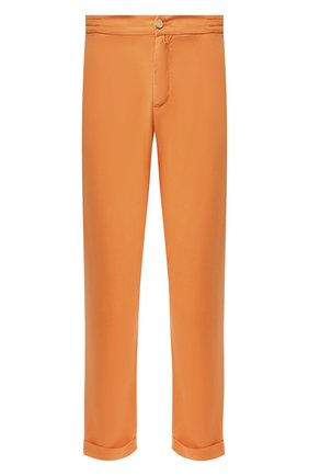 Мужской льняные брюки KITON оранжевого цвета, арт. UFPLACJ07S40 | Фото 1