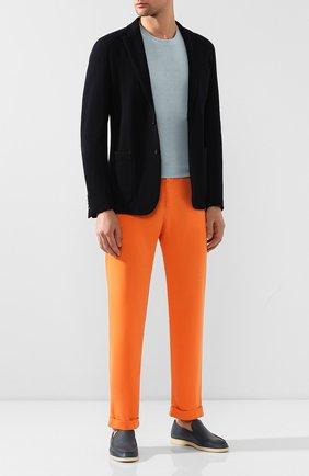 Мужской льняные брюки KITON оранжевого цвета, арт. UFPLACJ07S40 | Фото 2