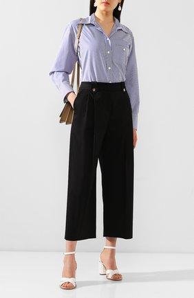 Женские хлопковые брюки ESCADA черного цвета, арт. 5033792 | Фото 2