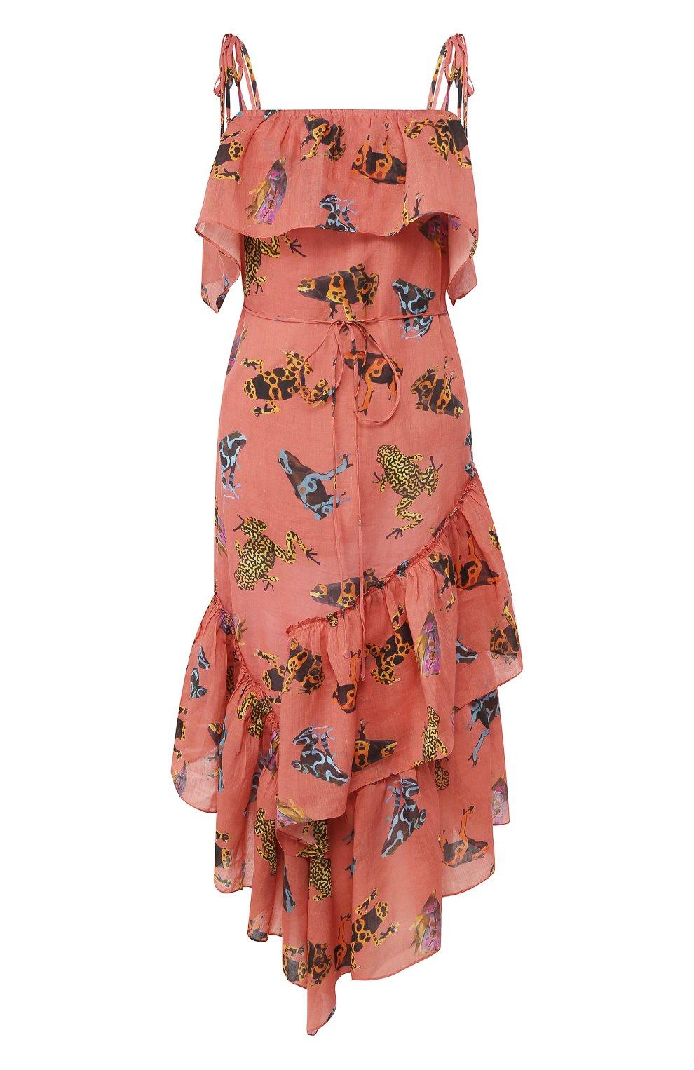 Женское льняное платье LILY FRANCO разноцветного цвета, арт. 00046 | Фото 1