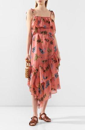 Женское льняное платье LILY FRANCO разноцветного цвета, арт. 00046 | Фото 2
