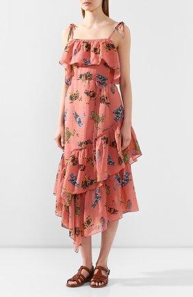 Женское льняное платье LILY FRANCO разноцветного цвета, арт. 00046 | Фото 3