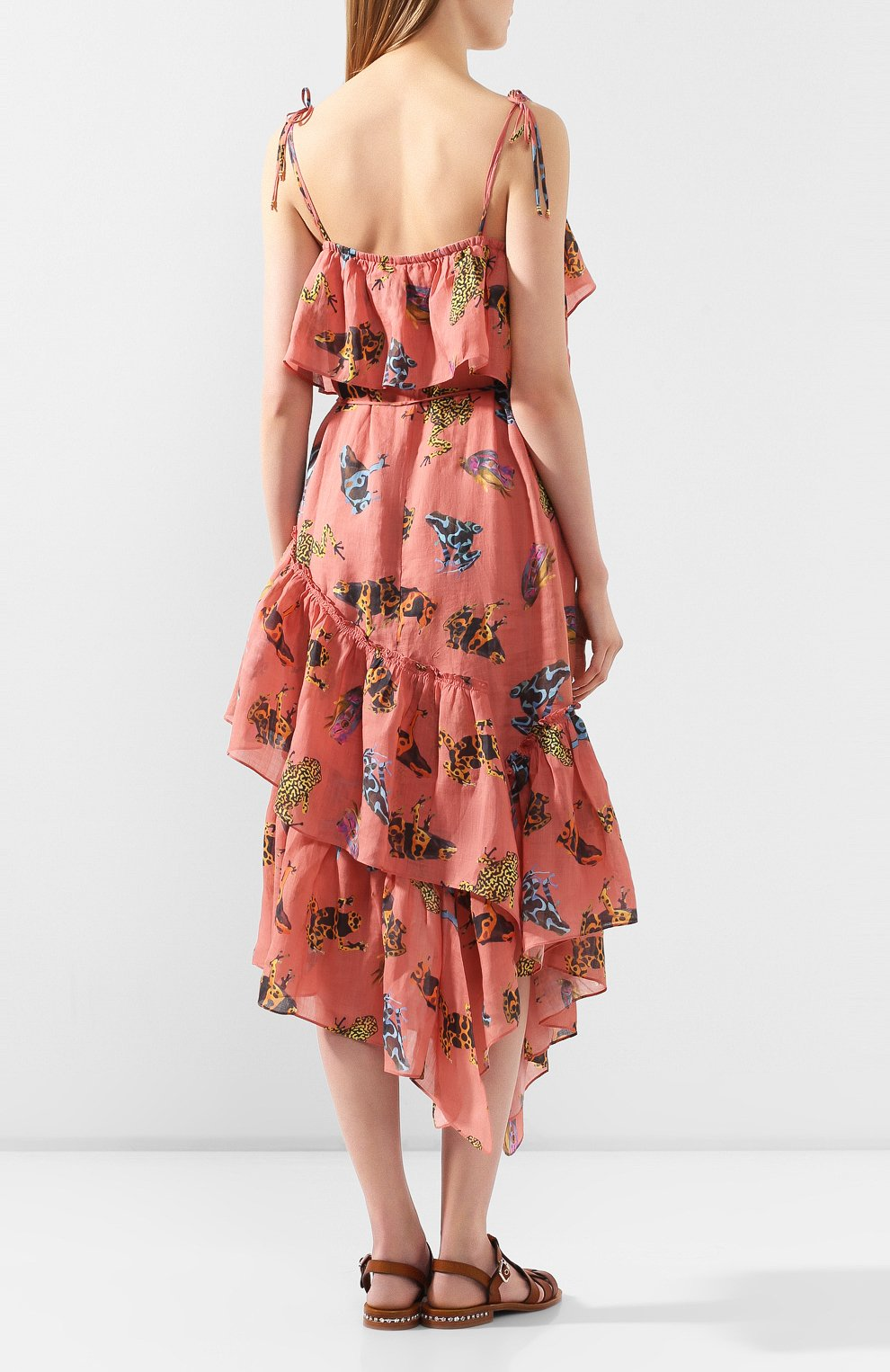 Женское льняное платье LILY FRANCO разноцветного цвета, арт. 00046 | Фото 4