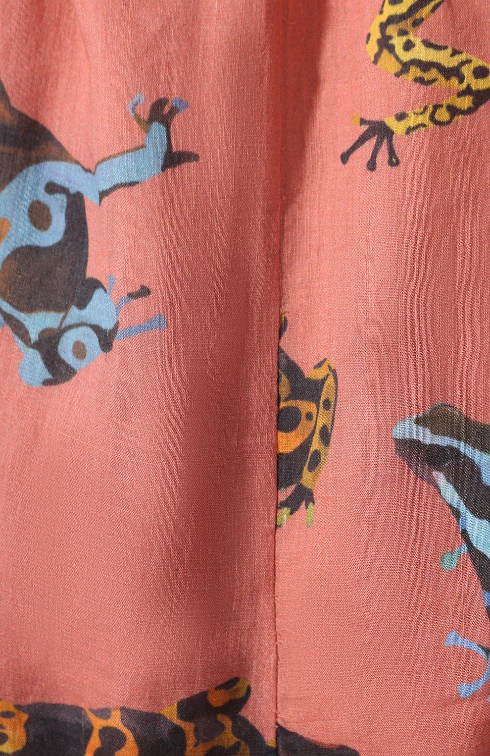 Женское льняное платье LILY FRANCO разноцветного цвета, арт. 00046 | Фото 5
