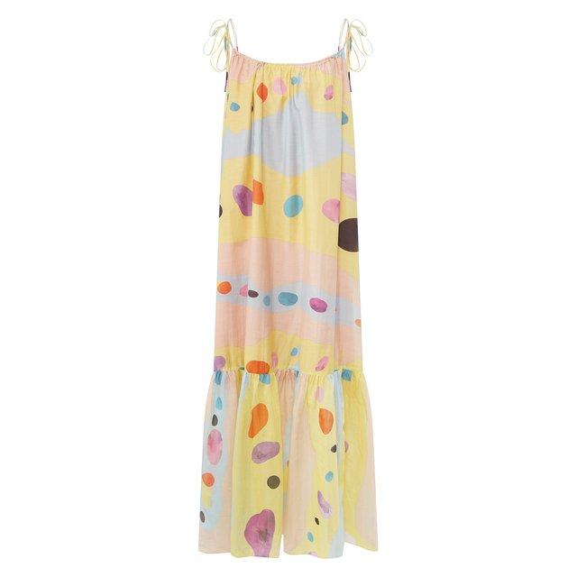 Платье из смеси хлопка и шелка Lily Franco