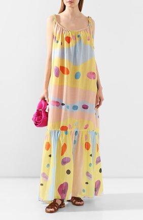 Платье из смеси хлопка и шелка | Фото №2