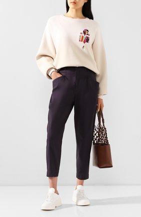 Женские хлопковые брюки ISABEL MARANT черного цвета, арт. PA1699-20E006I/GUBAIA | Фото 2