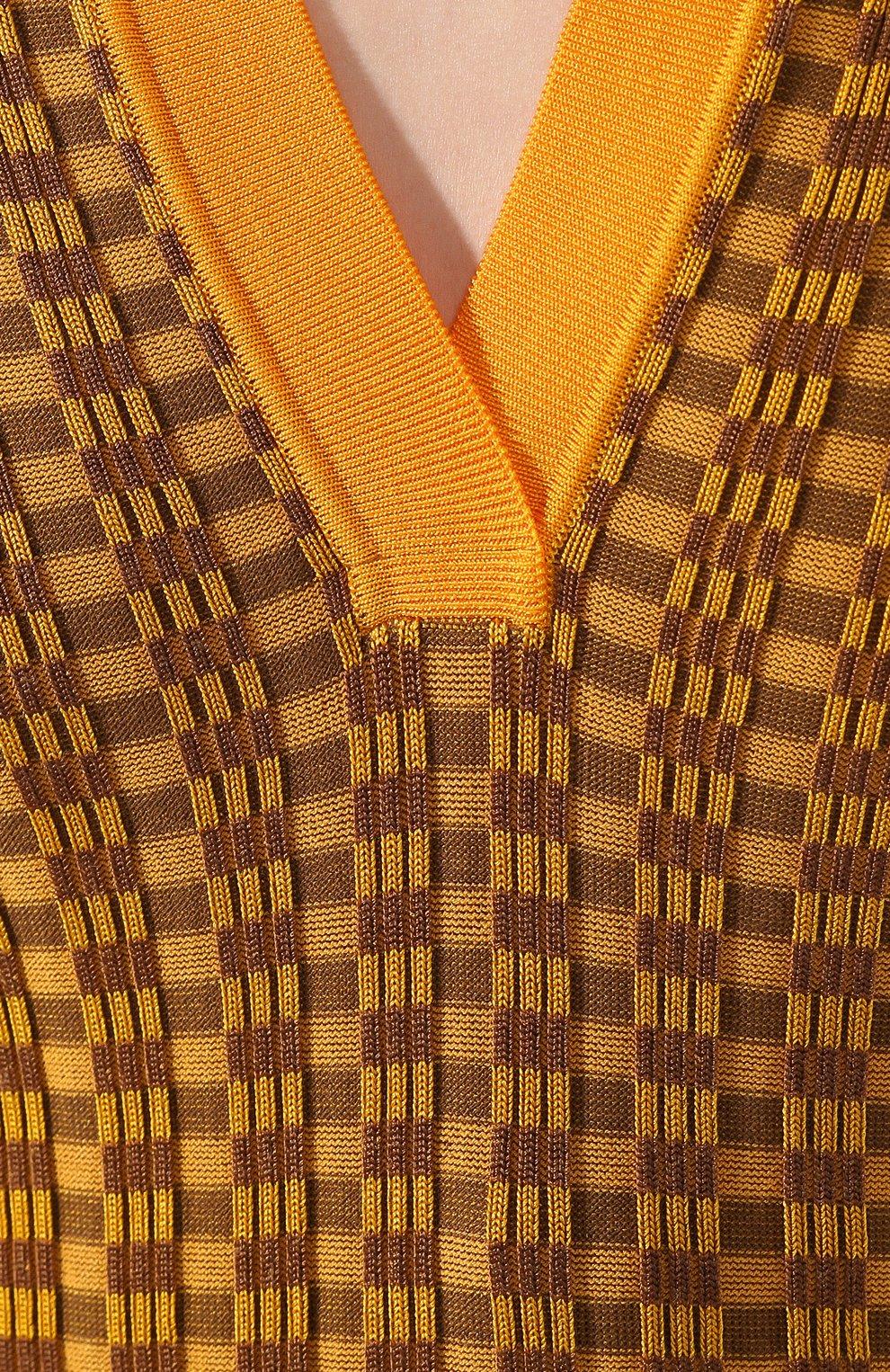 Женское поло из вискозы FENDI разноцветного цвета, арт. FZX515 ABWJ | Фото 5
