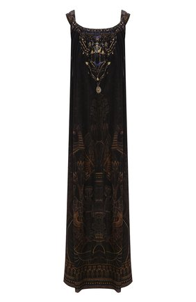 Женское шелковое платье CAMILLA коричневого цвета, арт. 3710 | Фото 1