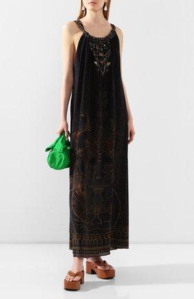 Женское шелковое платье CAMILLA коричневого цвета, арт. 3710 | Фото 2