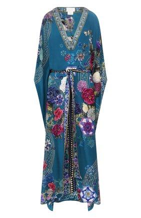 Женское шелковая туника CAMILLA голубого цвета, арт. 3635 | Фото 1