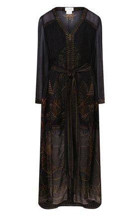 Женское шелковое платье CAMILLA коричневого цвета, арт. 3039 | Фото 1