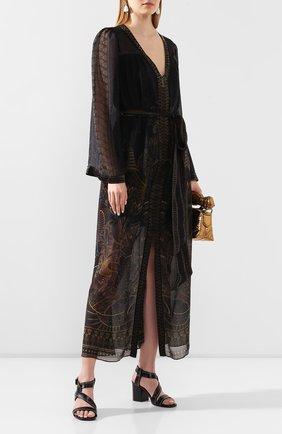 Женское шелковое платье CAMILLA коричневого цвета, арт. 3039 | Фото 2
