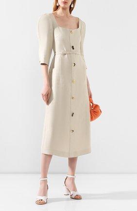 Женское льняное платье REJINA PYO бежевого цвета, арт. F278/LINEN   Фото 2