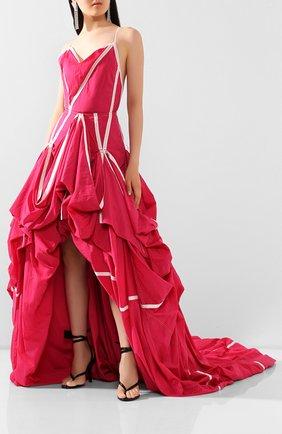 Женское платье OFF-WHITE розового цвета, арт. 0WDB232S20FAB0013200 | Фото 2