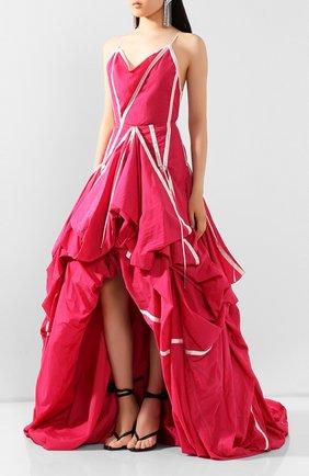 Женское платье OFF-WHITE розового цвета, арт. 0WDB232S20FAB0013200 | Фото 3