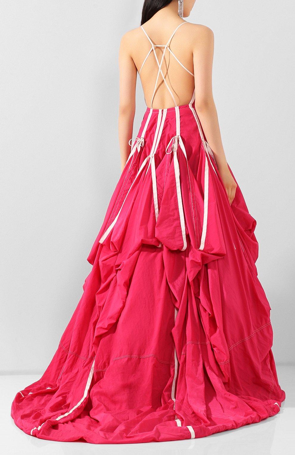 Женское платье OFF-WHITE розового цвета, арт. 0WDB232S20FAB0013200 | Фото 4