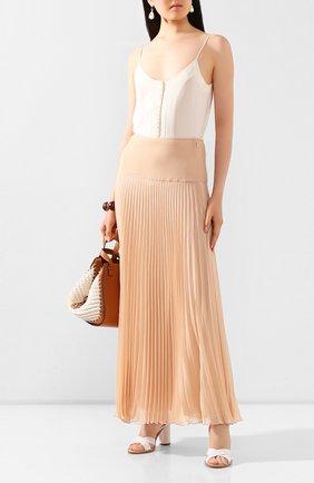 Женская юбка-макси CHLOÉ розового цвета, арт. CHC20UJU37021 | Фото 2