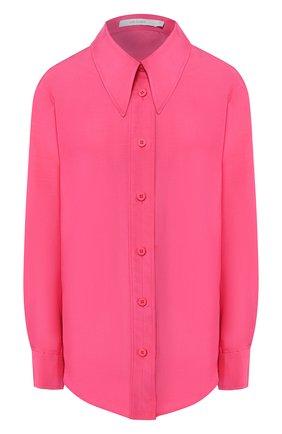 Женская рубашка из смеси хлопка и шелка LOW CLASSIC розового цвета, арт. L0W20SS_SH08PK   Фото 1