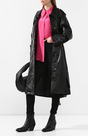Женская рубашка из смеси хлопка и шелка LOW CLASSIC розового цвета, арт. L0W20SS_SH08PK   Фото 2