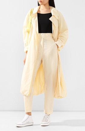 Женские брюки LOW CLASSIC светло-бежевого цвета, арт. L0W20SS_PT15CR   Фото 2