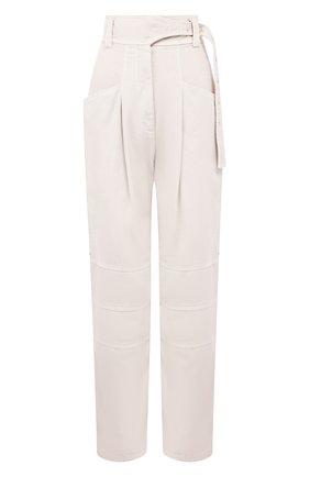 Женские хлопковые брюки LOW CLASSIC бежевого цвета, арт. L0W20SS_PT11BE | Фото 1