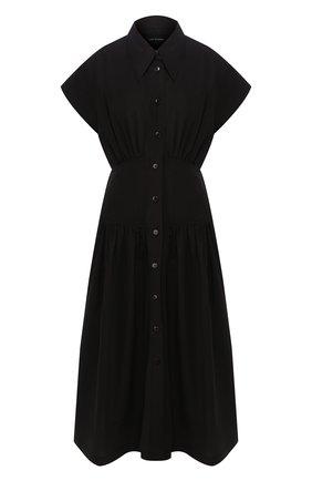 Женское хлопковое платье LOW CLASSIC черного цвета, арт. L0W20SS_DR05BK   Фото 1