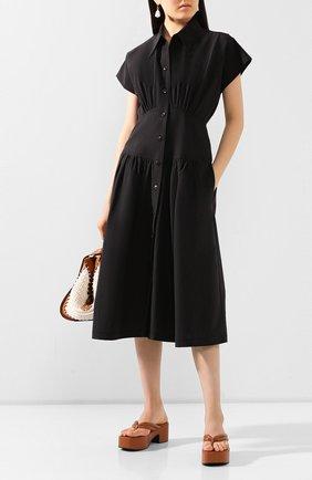 Женское хлопковое платье LOW CLASSIC черного цвета, арт. L0W20SS_DR05BK   Фото 2
