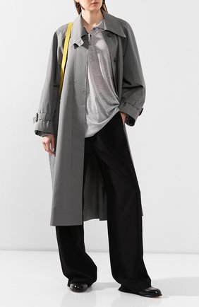 Женский хлопковый плащ LOW CLASSIC серого цвета, арт. L0W20SS_CT10BG   Фото 2