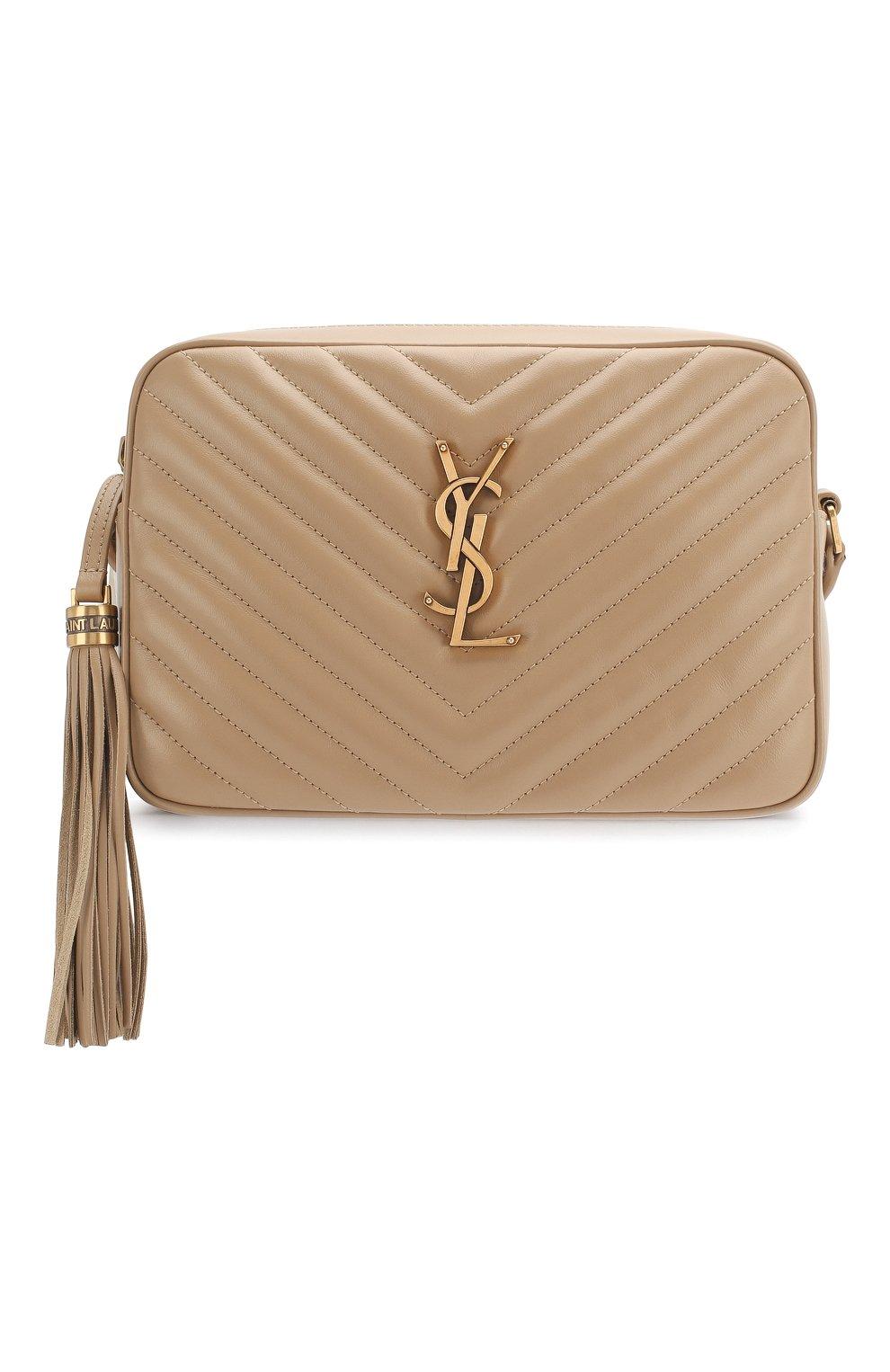 Женская сумка lou medium SAINT LAURENT бежевого цвета, арт. 612544/DV707 | Фото 1
