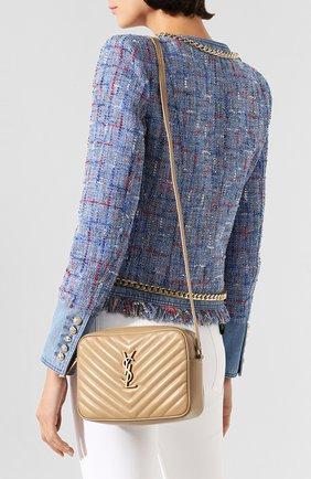 Женская сумка lou medium SAINT LAURENT бежевого цвета, арт. 612544/DV707 | Фото 2