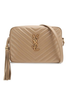 Женская сумка lou medium SAINT LAURENT бежевого цвета, арт. 612544/DV707 | Фото 5