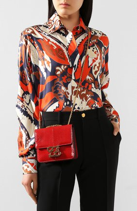 Женская сумка karligraphy FENDI красного цвета, арт. 8BT317 A9P0 | Фото 2