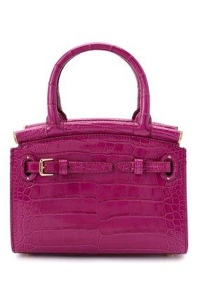 Женская сумка rl50 mini из кожи аллигатора RALPH LAUREN фуксия цвета, арт. 435769101/AMIS | Фото 1