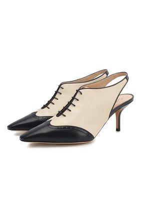 Женские кожаные туфли GIORGIO ARMANI разноцветного цвета, арт. X1C200/XM401 | Фото 1